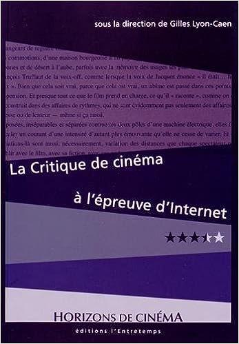 Livre CRITIQUE DE CINEMA A L'EPREUVE pdf epub