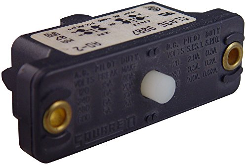 Square D by Schneider Electric 9007AO1 Snap Switch with Basic Plunger, No Enclosure, 1 NO + 1 NC, 600 VAC, 15 Amp by Square D by Schneider Electric