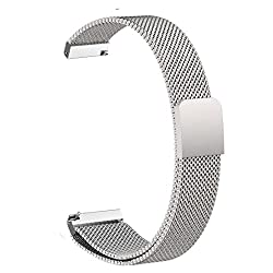 For Pebble Time Round 14mm Watch Band, Vicrior Quick Release Milanese Loop Stainless Steel Bracelet Watch Strap With Strong Magnet For Pebble Time Round 14mm Women