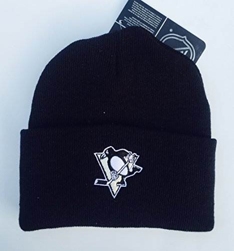 Cuffed Yupoong Knit (Pittsburgh Penguins Black Cuffed Basic Knit Hat Beanie)