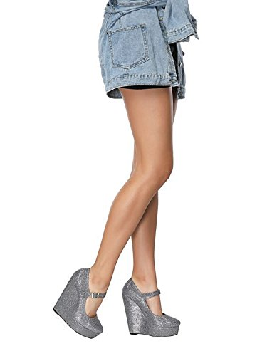 OCHENTA Wedge High Plattform 5 5CM 11 Heels Damen Pumps UK 14 Size Knöchelriemen 5 rUZqrCwt