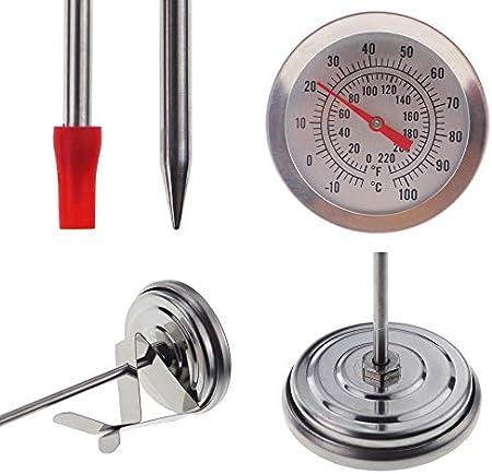 Inicio Brew Hydrometer y 300 mm Brewing Home Brew Termómetro – Kit esencial para preparación casera