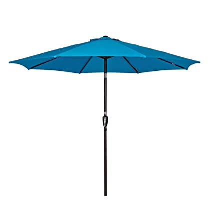 f954ff9425 Sundale Outdoor 10 Feet Outdoor Aluminum Patio Umbrella with Auto Tilt and  Crank, 8 Alu. Ribs, 100% Polyester (Turquoise)