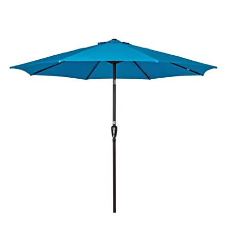 Sundale Outdoor 10 Feet Outdoor Aluminum Patio Umbrella with Auto Tilt and Crank, 8 Alu. Ribs, 100 Polyester Turquoise
