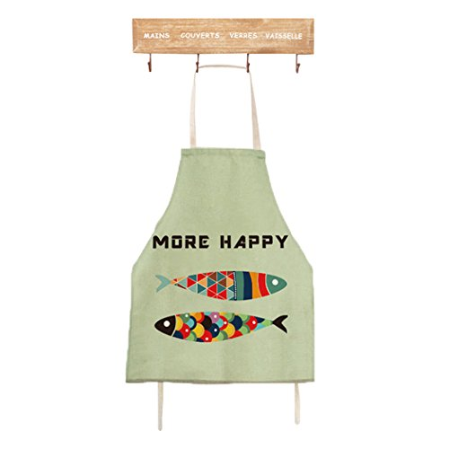 Women Kitchen Cooking Apron Funny Novelty Fish BBQ Party (Adult, LightGreen) (Daisy Duke Costume For Adults)
