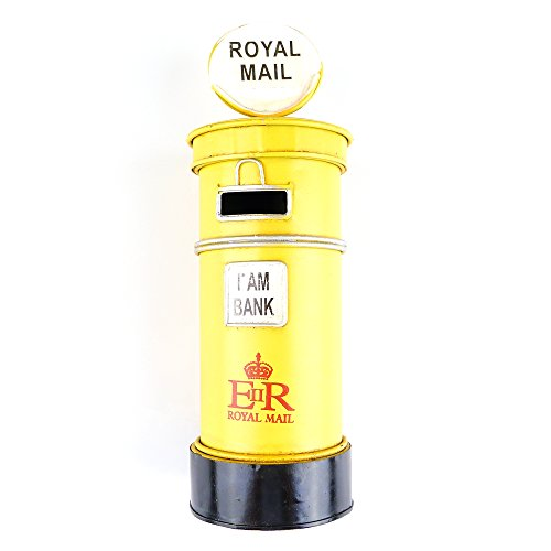 Chadstone Retro Post Box Ornament British Royal Mailbox Piggy Bank Saving Box Coin Case (Royal Mailbox)