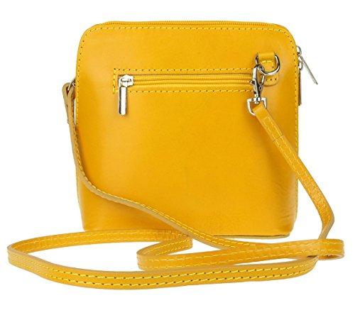 Piel Girly de cruzados mujer para Handbags Bolso amarillo Pqy8wB6
