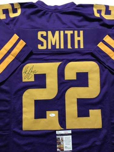 Autographed/Signed Harrison Smith Minnesota Color Rush Football Jersey JSA