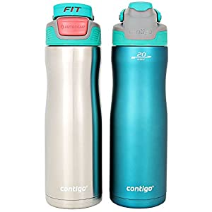 Contigo AUTOSEAL 20 oz. Stainless-Steel Water Bottle, 2 Pack (Assorted Colors)