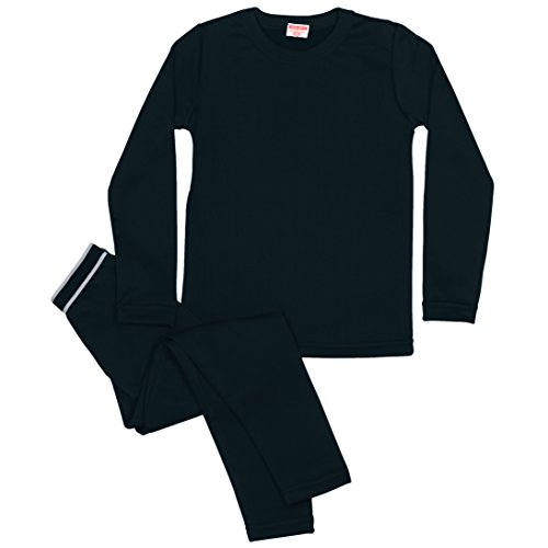 Rocky Boy's Fleece Lined Thermal Underwear 2PC Set Long John Top and Bottom (XL, (Long John Thermal Pajamas)