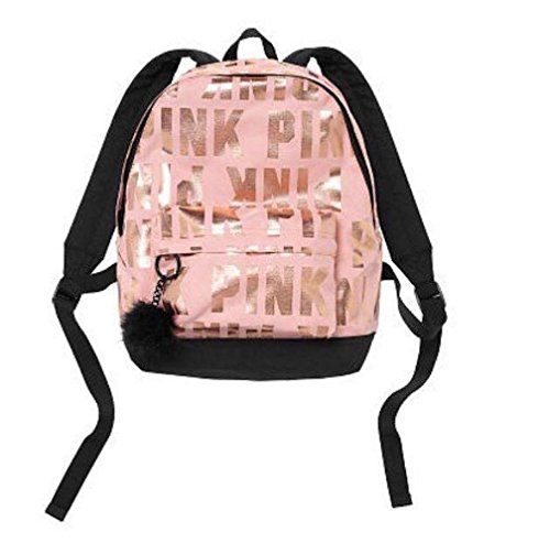 Victoria's Secret Pink Mini Backpack with Pompon Limited Edition, Gold ()