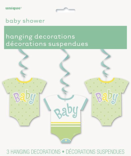 Hanging Polka Baby Shower Decorations