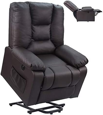 charaHOME Power Lift Recliner Chair PU Leather Sofa Electric Chairs