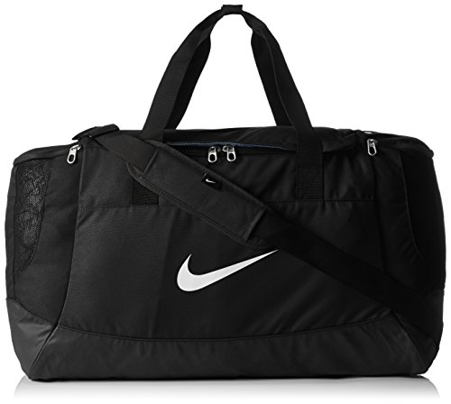 NIKE sports bag Fitness Club Team Swoosh Duffel large 58 liter size L bag, color:Schwarz