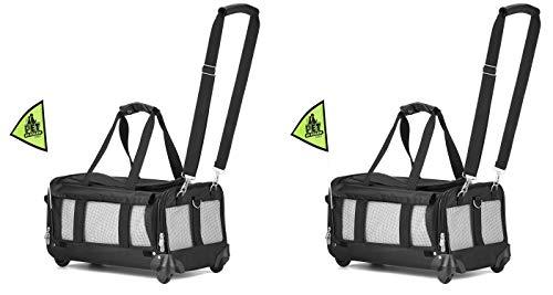 Sherpa on Wheels Pet Carrier, Black (2 Carriers)