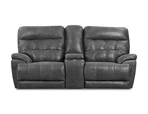 (Lane Home Furnishings 56500-63 Expedition Shadow Console Motion LOVESEAT, Grey)
