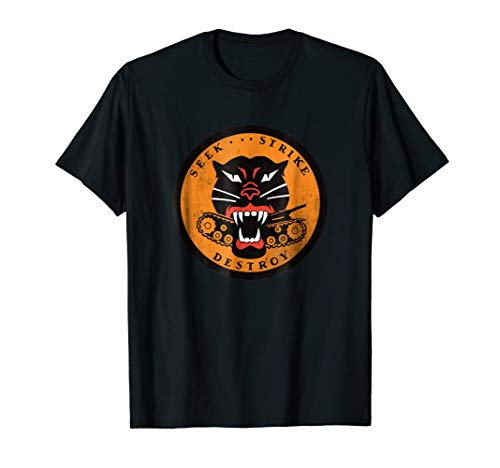 WWII Tank Destroyer Forces Panther Patch Vintage T-Shirt