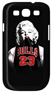 Case for Samsung Galaxy S3 Marilyn Monroe Chicago Bulls Michael Jordan Jersey Samsung S3 I9300 Case Cover at Luckyshopping Store