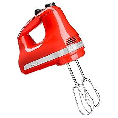 KitchenAid KHM512HT 5-Speed Ultra Power Hand Mixer, Hot Sauce