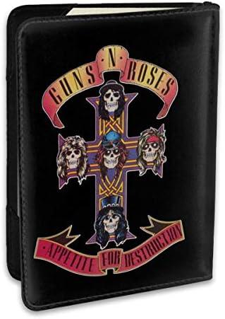 Guns N' Rosesガンズ・アンド・ローゼズ パスポートケース パスポートカバー メンズ レディース パスポートバッグ ポーチ 収納カバー PUレザー 多機能収納ポケット 収納抜群 携帯便利 海外旅行 出張 クレジットカード 大容量