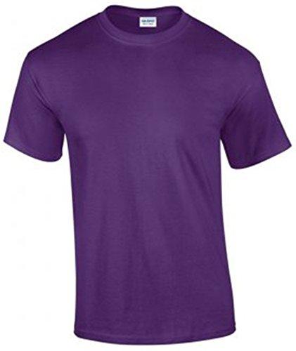 Corte Viola Cotone Ultra shirt Uomo T Maniche Gildan xqAHfOwH