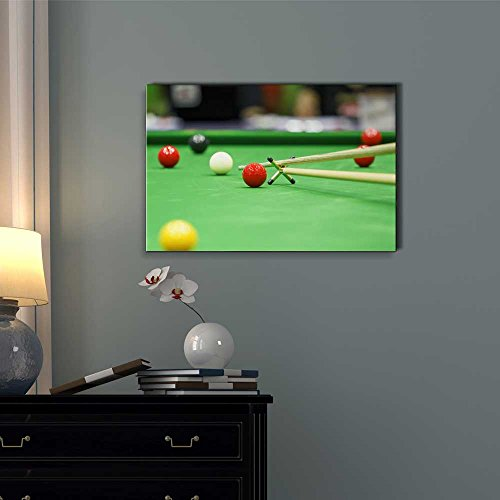 Ball and Snooker Player Pool Billiards Game Wall Decor
