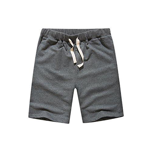 Leward Men's Casual Classic Fit Cotton Gym Short
