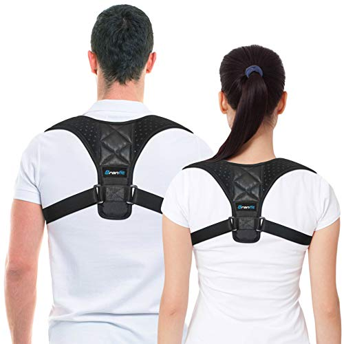 Posture Corrector & Back Support Brace for Women and Men by BRANFIT, Figure 8 Clavicle Support Brace is Ideal for Shoulder Support, Upper Back & Neck Pain Relief (Best Upper Back Support Brace)