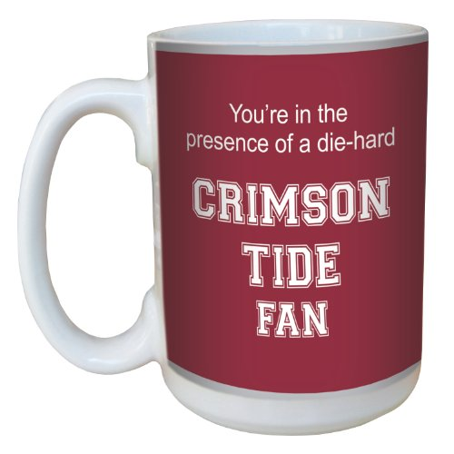 Tree-Free Greetings lm44376 Crimson Tide College Football Fan Ceramic Mug with Full-Sized Handle, 15-Ounce