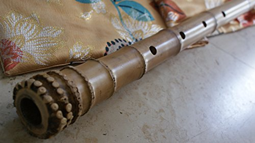 2.3 Pentatonic Shakuhachi with Root End 5 Holes Kinko Wudaguji inlet with buffalo horn flake- Traditional Zen Instrument