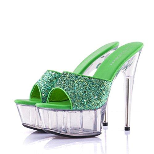 Grueso Calzado Fondo Libre Lugar Trabajo Aire De Al Tacones H Sandalias Zapatos Baile Mujer Altos Flop Impermeable Flip Salón Plataforma 15cm v4zqPgw
