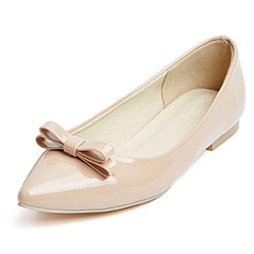 de Comodo Nude Mujer Bow Bailarinas Shoes Zapatos Zanpa plano xYS8Tw55q