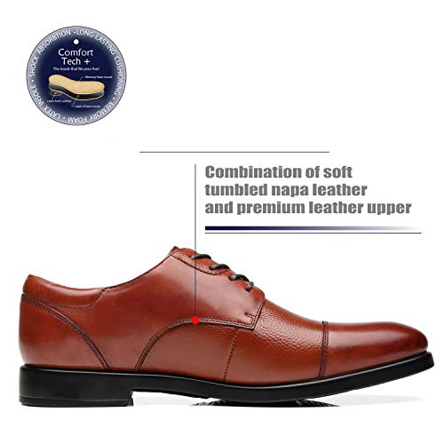 2f55e109697 La Milano Mens Wide Width Cap Toe Leather Lace-up Oxford Comfortable Formal  Extra Wide