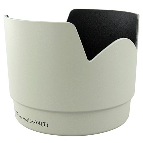 JJC Professional LH74T White Tulip Flower Lens Hood For canon 70-200mm F 4 Lens Replaces canon ET-74 ET74 by JJC