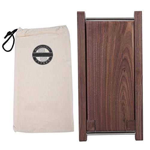 Guitar Footstool,Wood Acoustic Guitar Footstool Solid Handicraft Anti-skid Folding Footrest Pedal for Guitar Pla. ()