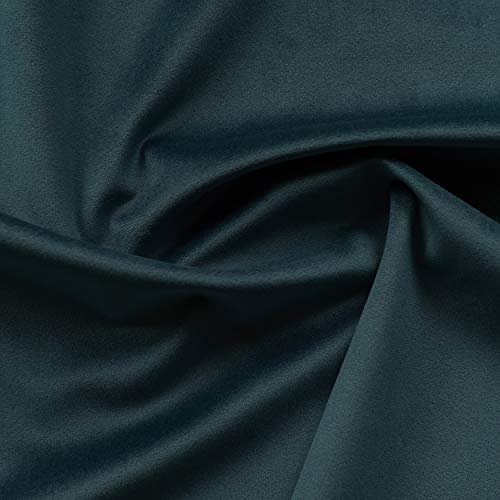 - Solid Drapery/Upholstery Soft Velvet Fabric Color Teal by The Yard