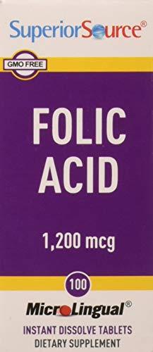 Superior Source Folic Acid 1200mcg (100 tablets)