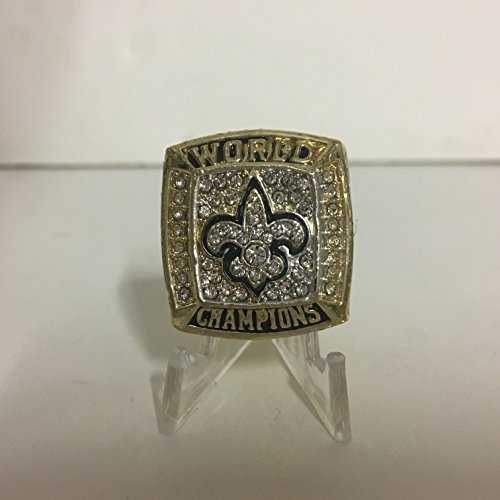 - 2009 Drew Brees New Orleans Saints High Quality Replica Super Bowl XLIV Ring-Gold Colored Size 11 Dallas TX shipping