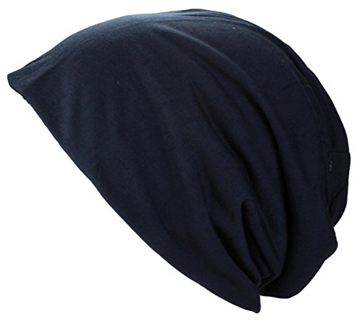 Gorra Lungo Jersey XL y reversible de dos tonos in diferentes colores Azul Marino Xl