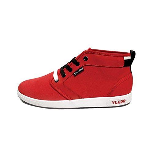VLADO FOOTWEAR Spectro 4 Red Baskets mi-montantes en toile Rouge