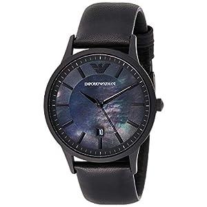Emporio Armani Men's Analog Quartz Watch with Leather Strap AR11276