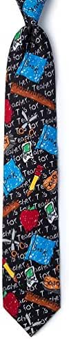Teacher Black Microfiber Tie
