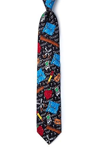 Teacher Black Microfiber Tie