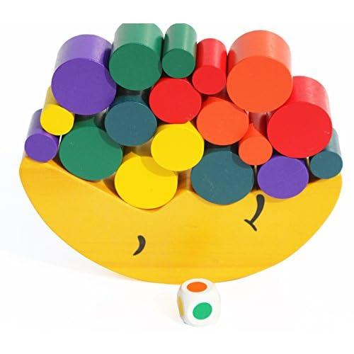 Toys of Wood Oxford blocs en bois jeu équilibrage Stacking - lune d'équilibrage - empilage jouet en bois pour 3 ans