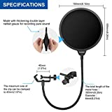 Aokeo Professional Microphone Pop Filter Mask