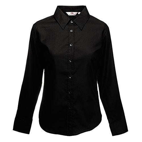 Oxford Negro ajuste De Larga Camisa Manga Lady qWzvU4On