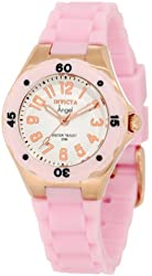 Invicta Women's 1622 Angel White Dial Light Pink Silicone Watch