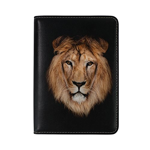 ALAZA Beautiful Africa Lion Leather Passport Holder Cover Case Travel One Pocket by ALAZA