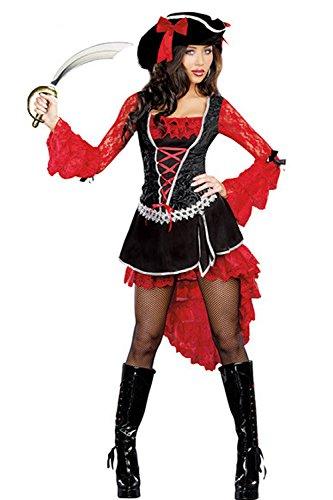 Kleid Schößchen Rot GGTBOUTIQUE size Schwarz Schwarz Damen One 5TwnqWwHEx