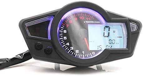 Universal Motorrad Kmh Mph Lcd Digital Tacho Tachometer Kilometerzähler Tachometer Cafe Racer Auto